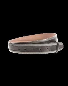 Gürtelriemen - Rindleder, zweifarbig - schwarz - 35 mm