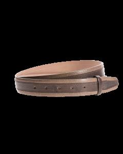 Gürtelriemen - Rindleder, zweifarbig - dunkelbraun - 35 mm