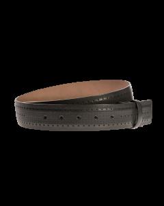 Gürtelriemen - Rindleder - schwarz - 40 mm