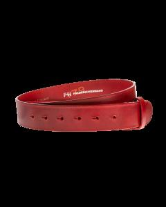 Gürtelriemen - Rindleder, strukturiert - rot - 40 mm