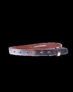 Gürtelriemen - Rindleder, metallic - silber - 20 mm