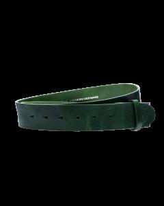 Gürtelriemen - Rindleder, strukturiert - dunkelgrün - 40 mm