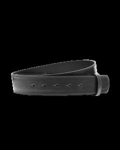 Gürtelriemen - Rindleder, Lackoptik - grau - 40 mm
