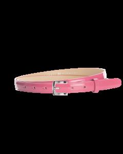 Gürtel Loano III 3047 - 20 mm - Rindleder, Lack - pink / Metall - silber
