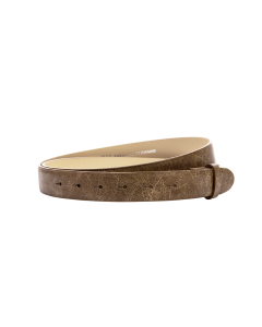 Gürtelriemen - Rindleder, Antik Look - beige - 30 mm