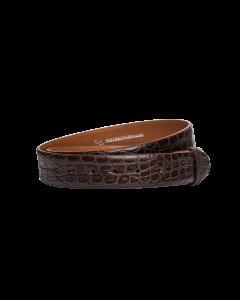 Gürtelriemen - Alligatorleder, geprägt - braun - 35 mm