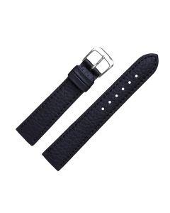 Uhrenarmband - Vegan, Prägung - schwarz / silber - 18mm