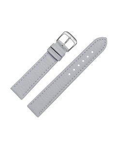 Uhrenarmband - Vegan, Prägung - grau / silber - 18mm