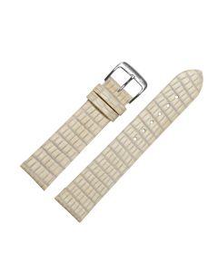 Uhrenarmband - Rindleder, Tejuprägung - beige / silber - 18m