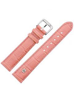 Uhrband - Rindleder, Krokoprägung - rosé / silber - 12 mm