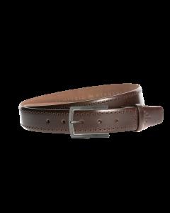 Gürtel Rocho 3086 - 35 mm - Rindleder, glatt - dunkelbraun / Metall - silber & anthrazit