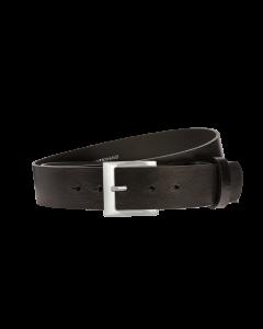 Gürtel Manila 3157 - 40 mm - Rindleder, glatt - schwarz / Metall - silber