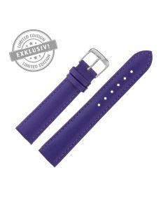 Uhrband - Rindleder, glatt - lila / silber - 18 mm