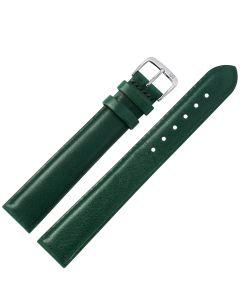 Uhrband - XL Rindleder, glatt - dunkelgrün / silber - 08 mm