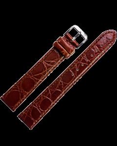 Marburger M681 Uhrenarmband XL Krokoprägung mittelbraun