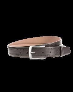 Gürtel Lancaster 3081 - 35 mm - Rindleder, glatt - schwarz / Metall - anthrazit