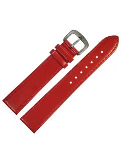 Uhrband - Rindleder, glatt - rot / titan - 12 mm