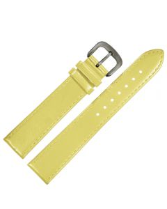 Uhrband - Rindleder, glatt - gelb / titan - 12 mm