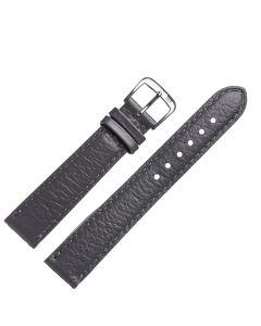 Uhrband - Rindsleder - grau / silber - 16mm