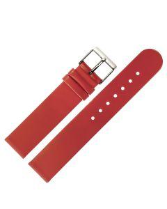 Uhrband - Rindleder, glatt - koralle / silber - 12 mm