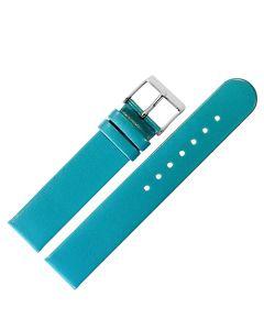 Uhrband - Rindleder, glatt - türkis / silber - 12 mm