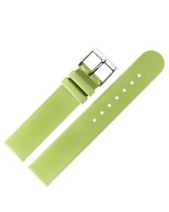 Uhrband - Rindleder, glatt - hellgrün / silber - 12 mm