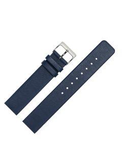 Uhrenarmband - passend für Skagen, Rindleder, glatt - d.blau / silber - 14 mm