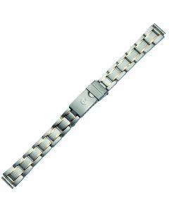 Uhrband - Edelstahl - silber / gold - 12, 14 & 16 mm