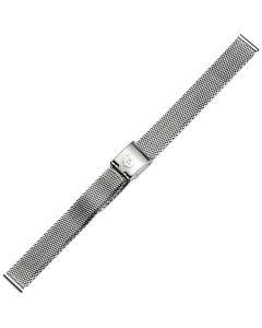 Uhrband - Edelstahl - silber - 12 mm
