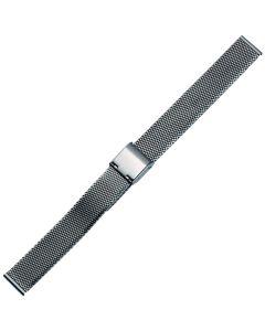 Uhrband - Edelstahl - titanfarbig - 14 mm
