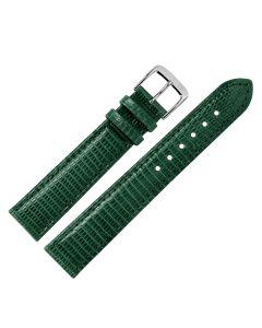Uhrband - Eidechsenleder - grün / silber - 20 mm