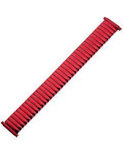 Uhrband - Edelstahl - rot - 16 bis 22 mm