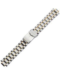 Uhrband - Edelstahl - silber / gold - 18 mm