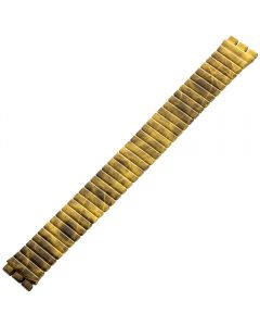 Uhrband - Edelstahl - gelb / schwarz - 17 mm