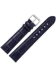 Marburger M824 Uhrenarmband Alligatorleder dunkelblau
