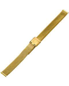 Uhrband - Edelstahl - gold - 12 mm