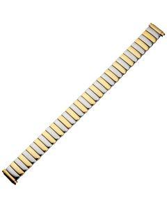 Uhrband - Edelstahl - gold / silber - 10 bis 14 mm