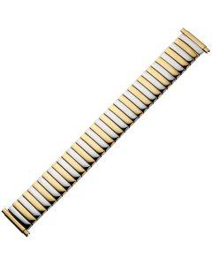 Uhrband - Edelstahl - gold / silber - 16 bis 22 mm