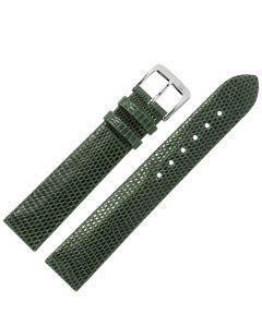 Uhrband - Eidechsenleder - grün / silber - 12mm