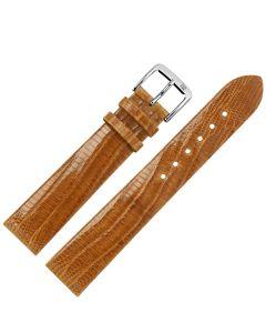 Uhrband - Teju-Eidechsleder - hellbraun / silber - 18 mm