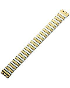 Uhrband - Edelstahl - gold / silber - 17 mm