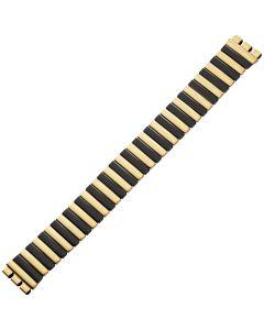 Uhrband - Edelstahl - gold / schwarz - 17 mm