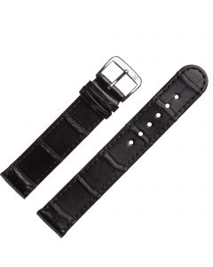Marburger M841 Uhrenarmband Alligatorleder schwarz