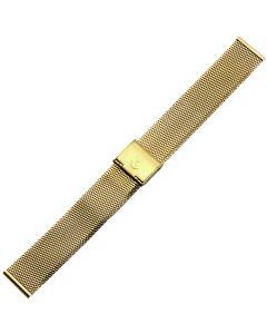 Uhrband - Edelstahl - gold - 16 mm