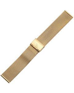 Uhrband - Edelstahl - gold - 20 mm