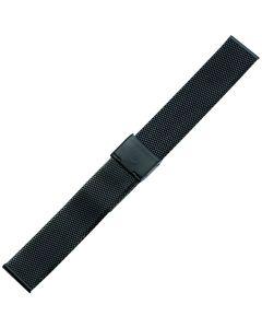 Uhrband - Edelstahl - schwarz - 18 mm