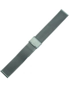 Uhrband - Edelstahl - titanfarbig - 18 mm