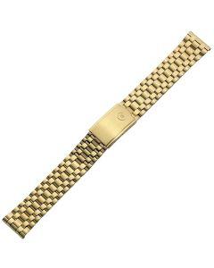 Uhrband - Edelstahl - gold - 18 mm