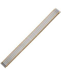 Uhrband - Edelstahl - XL - silber / gold - 16 mm