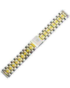 Uhrband - Edelstahl - silber / gelb - 18 & 20 mm